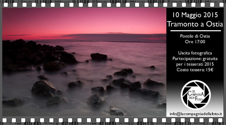 uscita fotografica tramonto a ostia